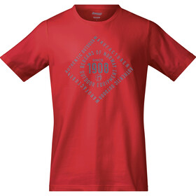 Bergans M's 1908 Tee Fire Red/Solid Grey